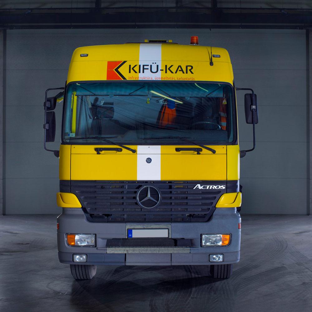 Mercedes Barin AB 13 Hídvizsgáló gép, Kifü-Kar Zrt., Hídmosás
